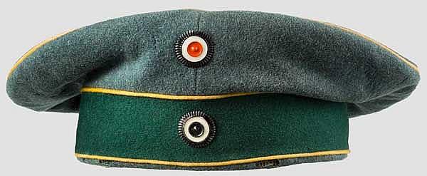 Krätzchen zur feldgrauen Uniform der Mannschaften des 3. Regiments Jäger zu Pferde
