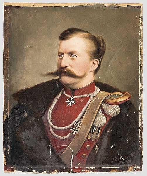 Julian Waldowski - Portrait des Rittmeisters Max von Windisch vom 1. Pommerschen Ulanen-Regiment Nr. 4, um 1885