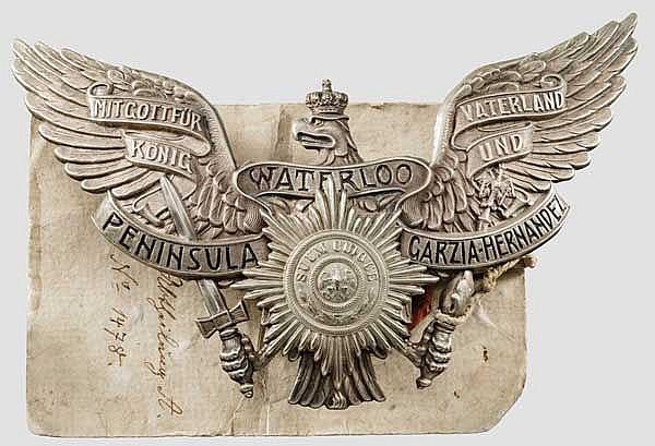 Gesiegelte Probe des Adlers für die Tschapka der Mannschaften im Königs-Ulanen-Regiment (1. Hannoversches) Nr.13