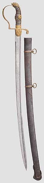 Säbel für Offiziere der Artillerie um 1840