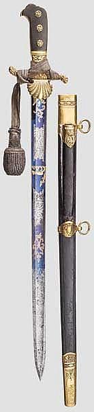 Prunk-Hirschfänger für einen höheren Forstbeamten aus der Regierungszeit König Maximilian II. (1848 - 1864)