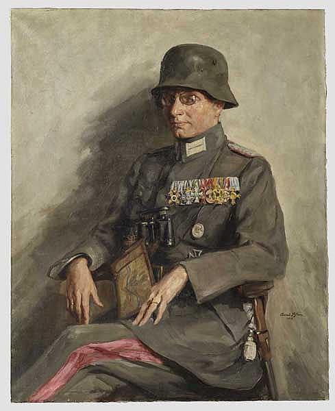 Conrad Pfau (1885 - 1954) - Portrait eines hochdekorierten Stabsoffiziers