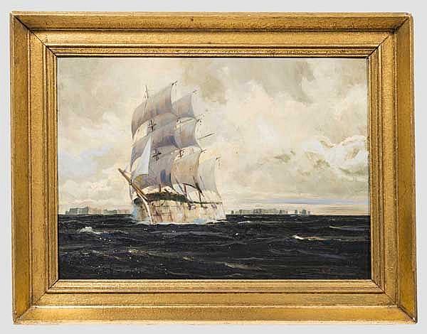 Segelschiff im Eismeer