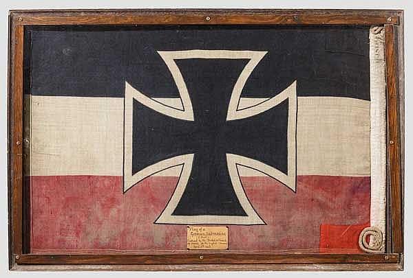 Kaiserliche U-Boot-Flagge als Beutestück