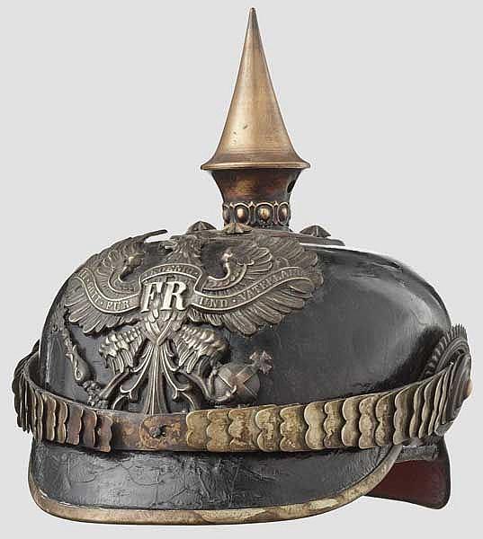 Helm für einen Offizier der Infanterie, Trageweise ab 1897