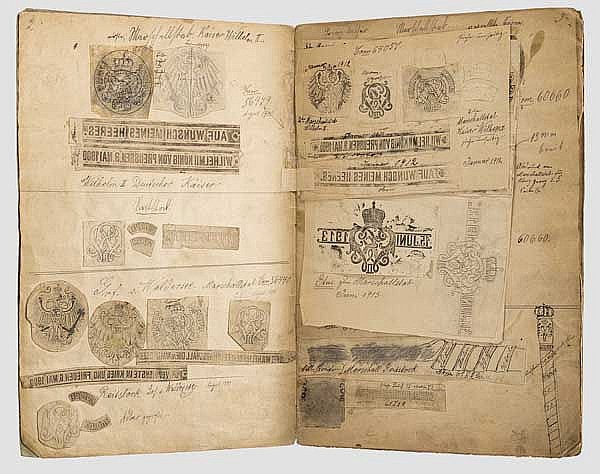 Feldmarschallstäbe und Reitstöcke - Werkstattbuch mit Kontaktkopien sämtlicher Stäbe des Kaiserreichs