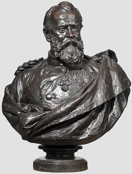 Christoph Roth – a life-sized bust of Prince Luitpold of Bavaria, Munich, dated 1878
