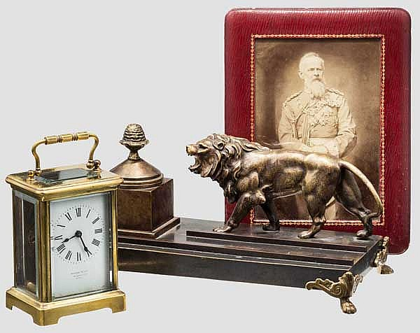 Luitpold von Bayern (1821 - 1912) - Uhr, Foto, Schreibgarnitur