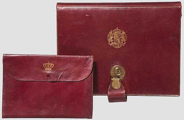 Luitpold von Bayern (1821 - 1912) - zwei Schreibmappen