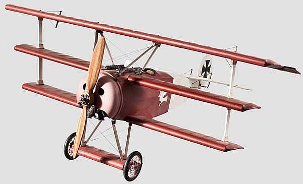Fokker Dr. I - Standmodell mit beweglichen Teilen