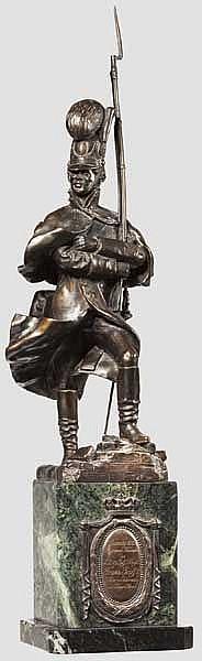 Joseph Bauerschubert – Bronzefigur eines Grenadiers des k.b.13. IR bei der Verteidigung von Danzig 1813