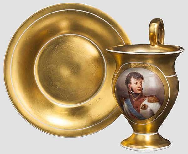 KPM Tasse - Joachim Murat Marshall von Frankreich