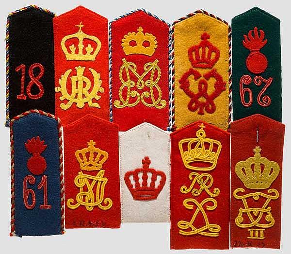 Große Sammlung deutscher Schulterstücke