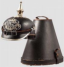 Helm für Mannschaften der Polizei um 1900