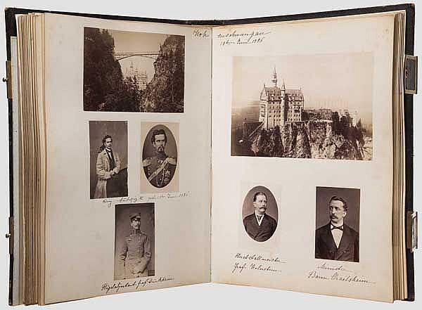 Fotoalbum mit bayerischem und internationalem Hochadel, Ende 19. Jhdt.