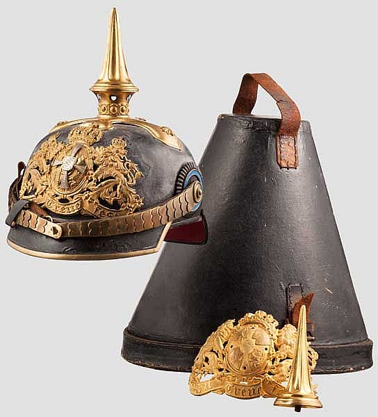 Helm M 1886 für Reserve- oder Landwehr-Offiziere der Infanterie