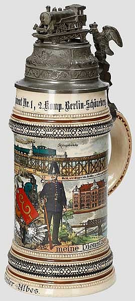 Preußen - 2. Komp./Kgl. Eisenbahn-Regiment Nr.1 Berlin-Schöneberg 1909/1911