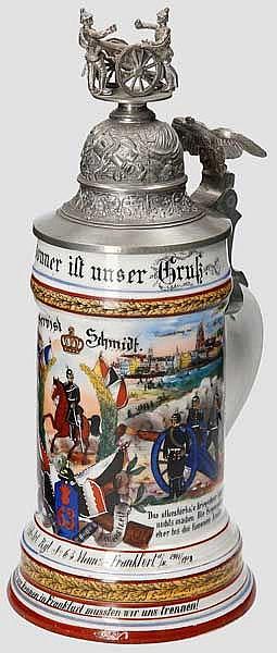 Preußen - 1.Battr./Feld Art. Rgt. No. 63 Regt. Mainz - Frankfurt 1906-1908