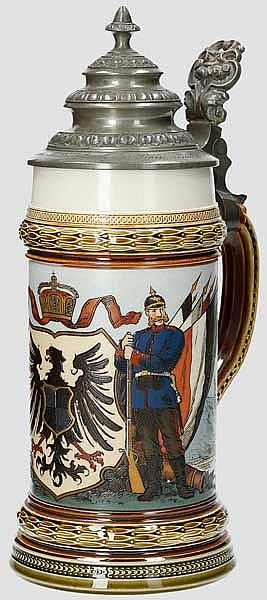 Preußen - Mettlach-Geschenkkrug Pionier Bataillon No. 9