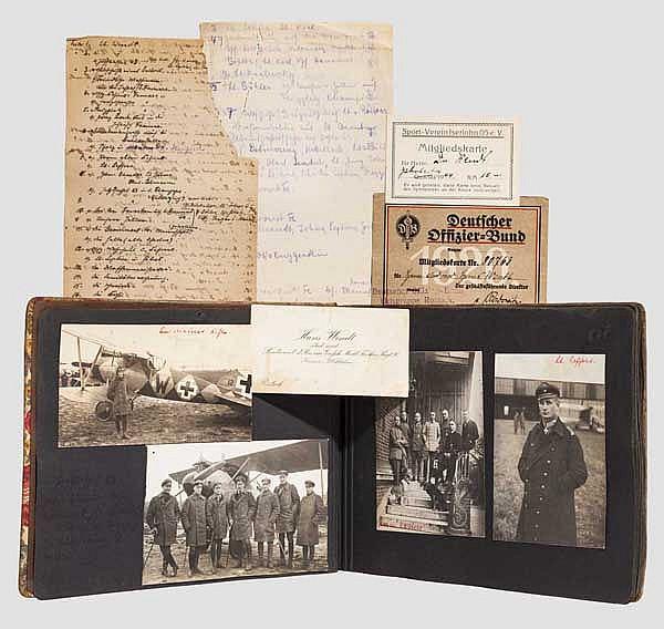 Fotoalbum des Flugzeugführers Hans Wendt - Jagdstaffel 63