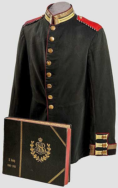 Imperial German NCO Prussian Guard Schutzen Tunic and Album