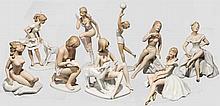 Wallendorfer Porzellan - Neun Frauenfiguren