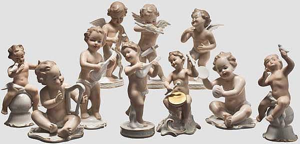 Wallendorfer Porzellan - zehn Putten und Amoretten