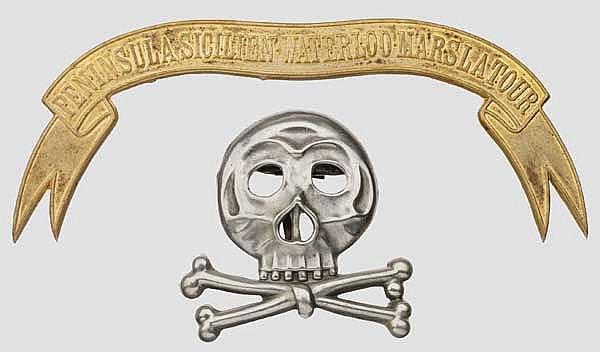 Embleme für die Pelzmütze der Mannschaften im Husaren Regiment Nr. 17 um 1910