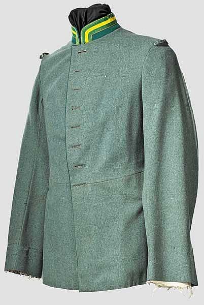 Waffenrock M 1910 für Mannschaften des Jäger-Regiments zu Pferde Nr. 3 oder 10