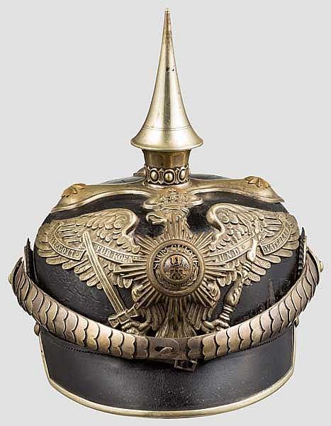 Helm für Offiziere im 2. Garde-Dragoner Regiment Kaiserin Alexandra v. Rußland um 1915