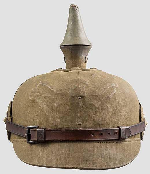 Helm für Offiziere der Infanterie in der besonderen Ausführung als Tropenhelm um 1915