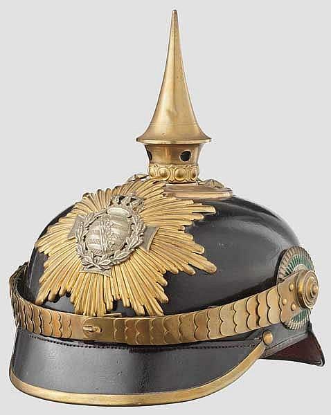 Helm für einen Reserveoffizier der Infanterie, Trageweise ab 1897