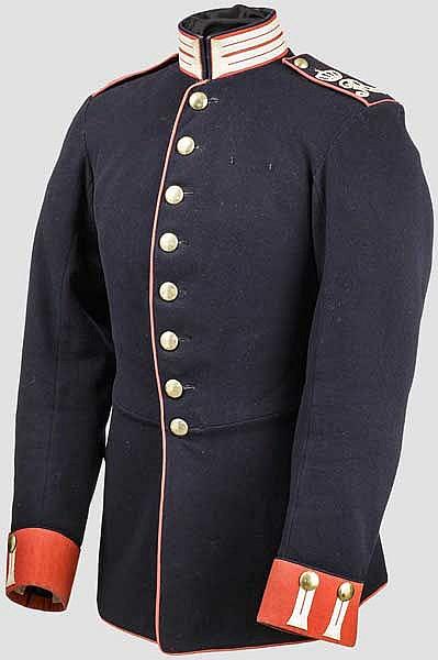 Waffenrock für Mannschaften der 1. Kompanie im Königlich-Sächsischen 1. Leibgrenadier-Regiment Nr. 100, um 1885