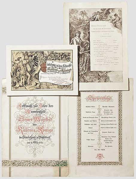 Festmahl für Kaiser Wilhelm II. in Düsseldorf 1891