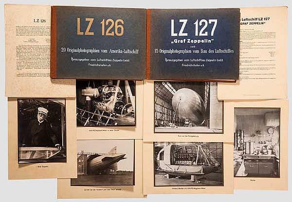 Zwei Bildermappen Luftschiff bzw. Zeppelin LZ 127 und LZ 126