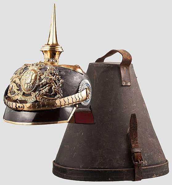 Helm M 1886 für Offiziere der berittenen Truppenteile