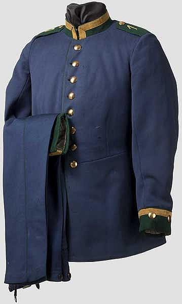 Uniform eines Oberjägers im Königlich Bayerischen 1. Jägerbataillon