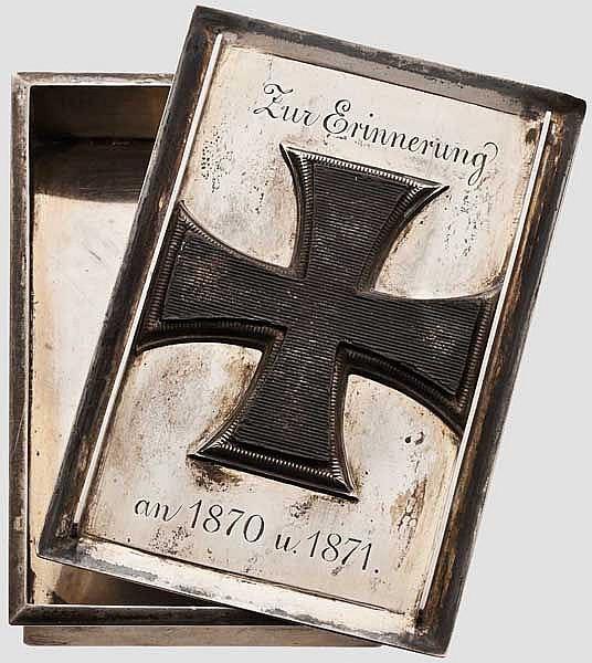 Silberdose 1870/71 - Wappen des Adelsgeschlecht von Hanstein