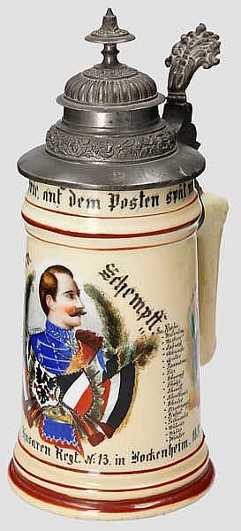 Preußen - 2. Eskdr./1. Hess. Husaren Regt. Nr. 13 in Bockenheim 1892-95