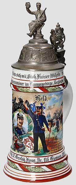 Preußen - 12. Comp./Inft. Regt. Kaiser Wilh. 2. Großh. Hess. Nr. 116 in Giessen 1904-06
