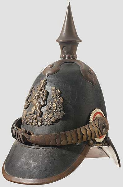 A Model 1842 Hessian Enlisted Man Spike Helmet