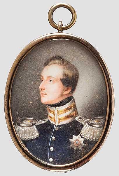 Miniatur-Portrait des Königs Ernst August von Hannover (1771 - 1851), um 1845
