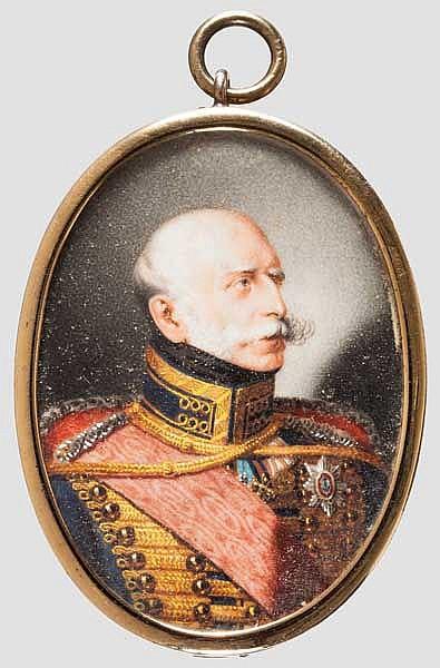 Miniatur-Portrait des Königs Georg V. von Hannover als Kronprinz (1819 - 1878), um 1845