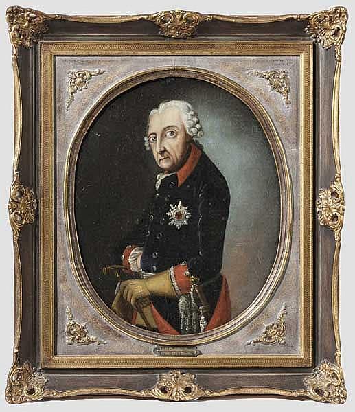 Johann Heinrich Franke (1738 - 1792), Werstatt/Umkreis - Portrait König Friedrich II. von Preußen