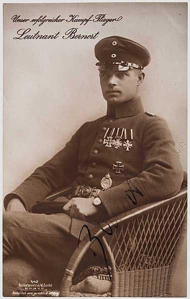 Otto Bernert - Foto-Ansichtskarte (Sanke) mit Originalunterschrift