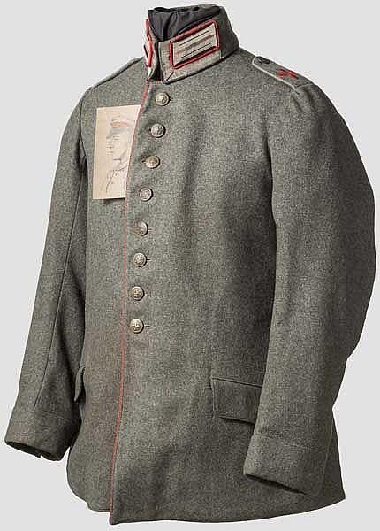 Waffenrock für einen Unteroffizier der bayerischen Fliegertruppe ab 1914