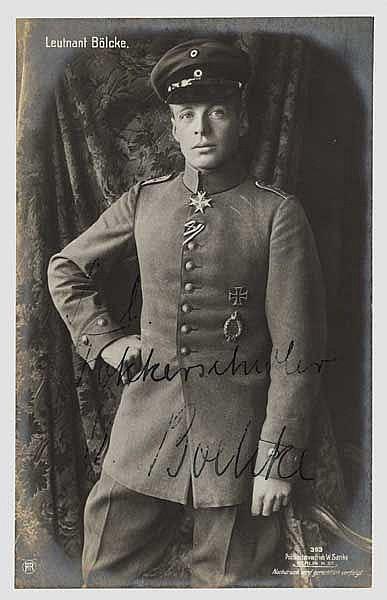 Oswald Boelcke - Foto-Ansichtskarte (Sanke) mit Originalunterschrift