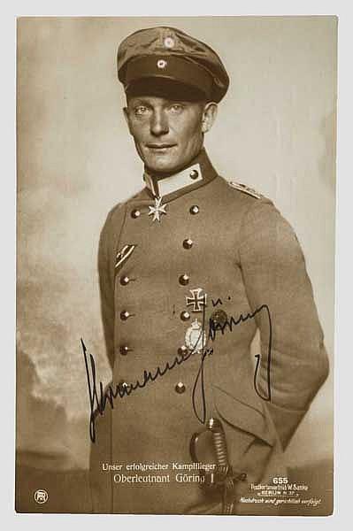 Hermann Göring - Foto-Ansichtskarte (Sanke) mit Originalunterschrift
