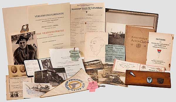 Nachlass des Fliegers und der deutschen Bobfahrer-Legende Otto Griebel - Fotoalbum, Fotos, Führerschein, Dokumente