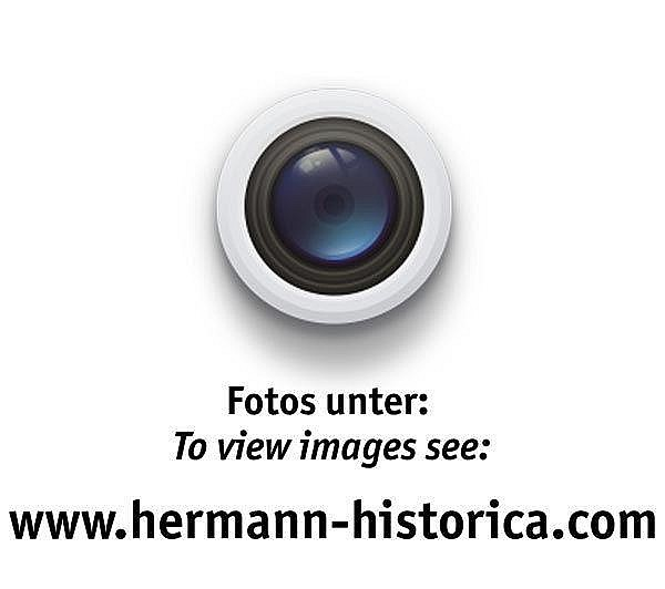 Große Kasse mit Symbolik der Deutschen Hanse (Lübeck) und Hakenkreuz